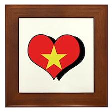 I Love Vietnam Framed Tile