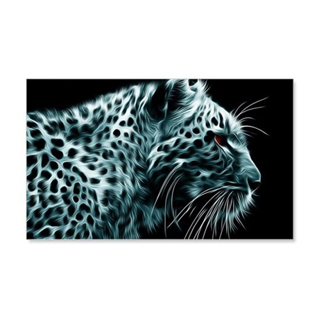 Snow Leopard 20x12 Wall Decal