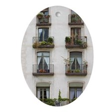 Building with balconies Oval Ornament