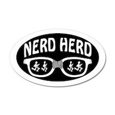 Nerd Herd Glasses Oval Black Wall Decal