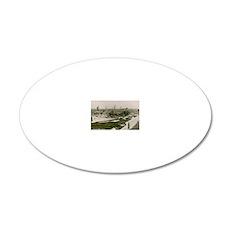 uss nantahala rectangle magn 20x12 Oval Wall Decal