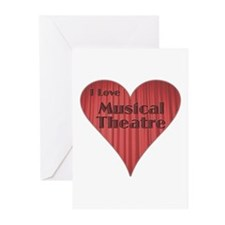 I Love Musical Theatre Greeting Cards (Package of