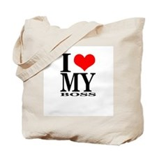 """I Love My Boss"" Tote Bag"