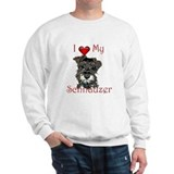 I love my Mini Schnauzer Sweatshirt