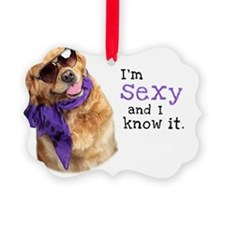 Im Sexy Golden Retriever Ornament