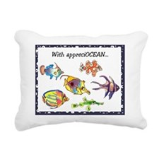 Thank You Fish Rectangular Canvas Pillow
