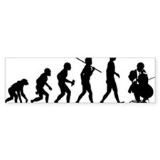 Cello-Player Bumper Sticker