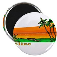 "Unique Belize city 2.25"" Magnet (100 pack)"