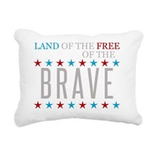 Land of the Free Because Rectangular Canvas Pillow