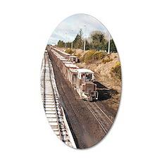 Irish Peat Bog Railway Shann 35x21 Oval Wall Decal