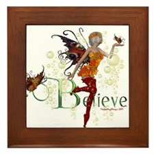 Autumn Believe Framed Tile