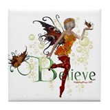 Autumn Believe Tile Coaster