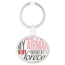 I Promise to love my Airman Oval Keychain