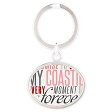 I Promise to love my Coastie Oval Keychain