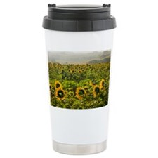 Field of sunflowers Ceramic Travel Mug