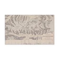 Antique map of glacier system Rectangle Car Magnet
