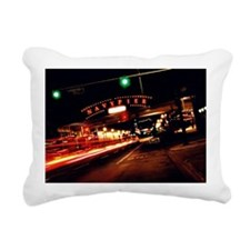 Navy Pier Rectangular Canvas Pillow