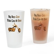 Big Boys Harley Black Drinking Glass