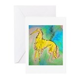 Borzoi/Silken Gold Greeting Cards (Pk of 10)
