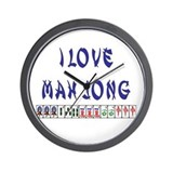 I Love Mah Jong Wall Clock