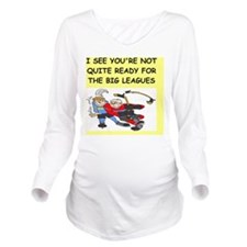 hockey Long Sleeve Maternity T-Shirt