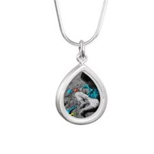 Beach fun Silver Teardrop Necklace
