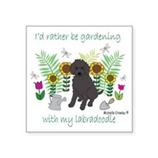 "Labradoodle Square Sticker 3"" x 3"""