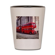 london bus st pauls Shot Glass