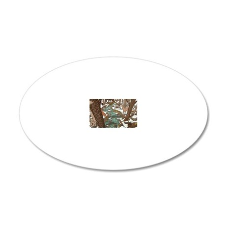 Maine Wildlife 20x12 Oval Wall Decal