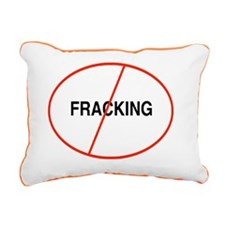 Oval No Fracking Rectangular Canvas Pillow