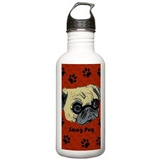 Cute Smug Pug Water Bottle