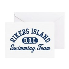 Rikers Island Swimming Team Greeting Card