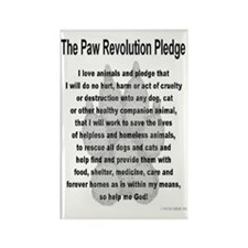 The Paw Revolution Pledge Rectangle Magnet