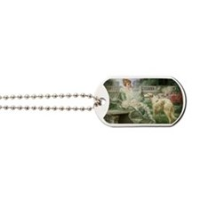 GardenLadyZoiSMServingTray Dog Tags