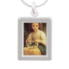 Daisy Crown Silver Portrait Necklace