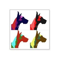 "Great Dane a la Warhol Square Sticker 3"" x 3"""