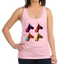 Great Dane a la Warhol Racerback Tank Top