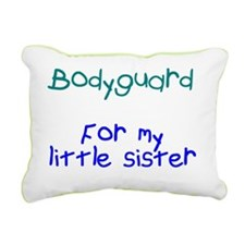 Bodyguard Little Sister Rectangular Canvas Pillow