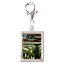Guard at Arlington National  Silver Portrait Charm