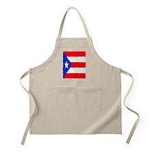 Puerto Rican Flag Flip Flops Apron