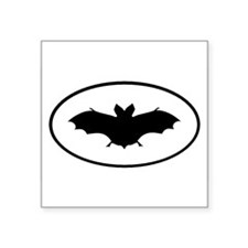 Bat Oval Sticker