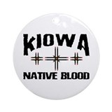 Kiowa Native Blood Ornament (Round)