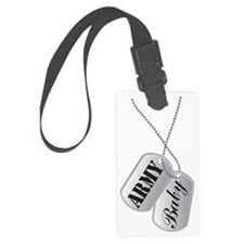 Army Baby Dog Tags Luggage Tag