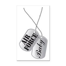Air Force Baby Dog Tags Rectangle Car Magnet