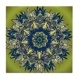 Cannabis Kaleidoscope II Tile Coaster