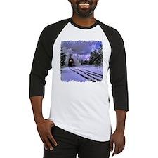 Snow Train Baseball Jersey