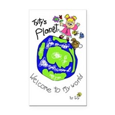 Tytys Planet Color Cover Rectangle Car Magnet