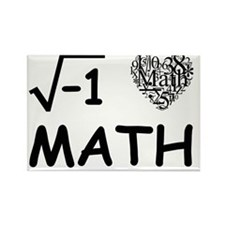 I Love Math Rectangle Magnet