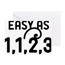 Easy as 1,1,2,3 Greeting Card