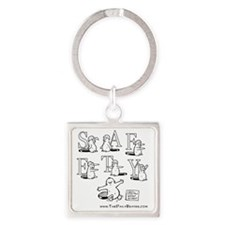 Safety Dance Square Keychain